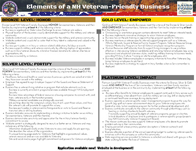 Elements of a NH Veterans friendly business
